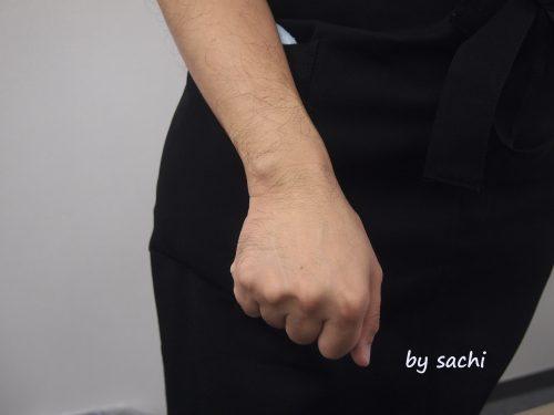 はちみつまぶして作ったお塩の石けん-で洗った手
